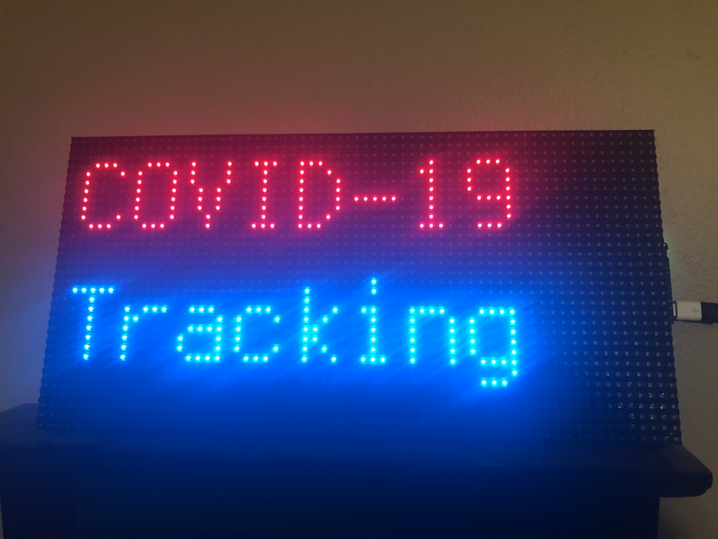 COVID-19 Tracking RGB Matrix