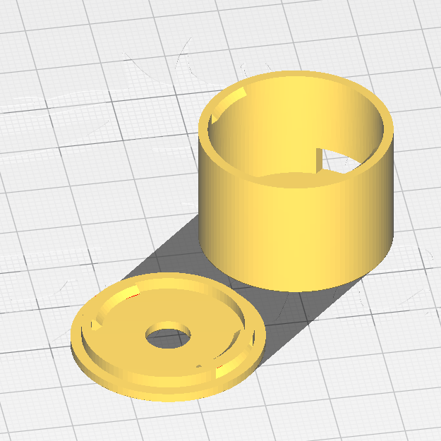 CAD files for the QT Py rotary encoder enclosure.